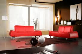 Red Leather Sofa Sets Divani Casa 120 Red Leather Sofa Set Seat And Hutch