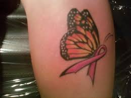 breast cancer ribbon butterfly maybe replace with teals for