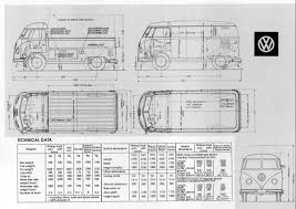volkswagen bus drawing thesamba com bay window bus view topic technical drawings