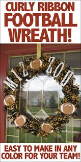 show some spirit mizzou football wreath how to nest for less curly ribbon football wreath