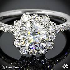 lotus engagement ring lotus halo diamond engagement ring 1357