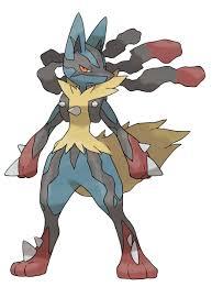 Coloriage MégaLucario Pokemon X et Y à imprimer
