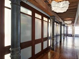 Exposed Brick Apartments Open Plan Apartment With Exposed Wood Beams And Iron Columns