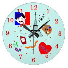 themed clock theme wall clocks zazzle