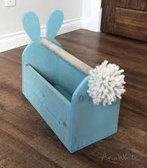 Homemade Easter Baskets by Ana White Wood Easter Basket Bunny Shaped Trug Diy Projects