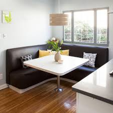 dining room cool kitchen bench seating l shaped black leather