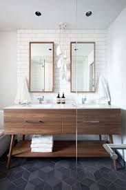 Brown Leather Chair And A Half Design Ideas Bathroom Modern Bathrooms Modern Bathroom Wood Flooring Dark