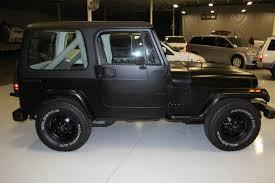 black jeep 2 door 1990 jeep wrangler base sport utility 2 door 4 2l black hardtop