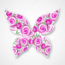 vector isolated multicolor butterfly paper butterfly logo with