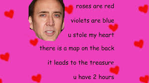 Valentines Day Meme Card - be my treasure valentine s day e cards know your meme