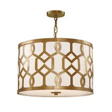 Libby Dining Hall by Crystorama Lighting Group Jennings Aged Brass Three Light Pendant