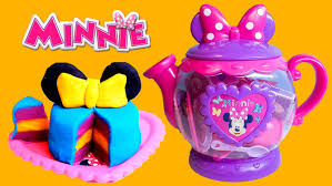 minnie mouse bow tique play doh tea playset disney junior mickey