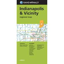 Map Of Downtown Indianapolis Folded Maps Indianapolis U0026 Vicinity