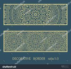 envelope border pattern decorative lace border ornamental panel doodle stock vector hd