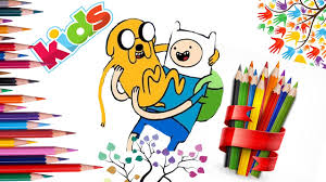 finn and jake adventure time coloring page for kids learn