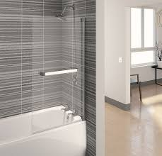 aqualux aqua 4 clear glass square bath shower screen 750 x 1375mm