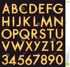 marquee alphabet font letters in broadway billboard sign style