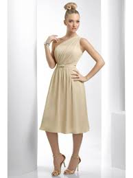 chagne bridesmaid dresses one shoulder chiffon bridesmaid dresses 501024