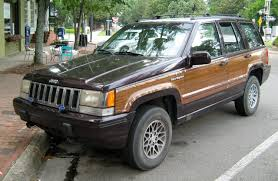 black jeep grand cherokee file 1993 jeep grand wagoneer black cherry front jpg wikimedia
