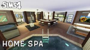 the sims 4 room design home spa youtube