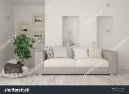 white room sofa scandinavian interior design stock illustration