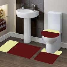 Bathroom Contour Rug New Bathroom Set Bath Rug Contour Mat Toilet Lid Cover 7 2 T