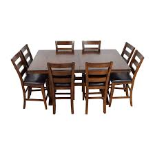 Bobs Furniture Dining Table 45 Off Italian Dining Set With Leaf Extensions And Floral