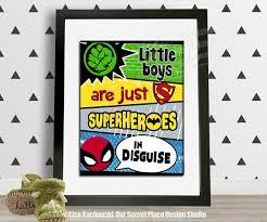 Toddler Superhero Bedroom Printable Superhero Wall Art Superhero Room Decor Superhero