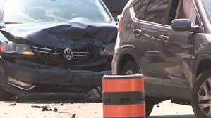 markham ontario canada june 2016 car accident and crash in city