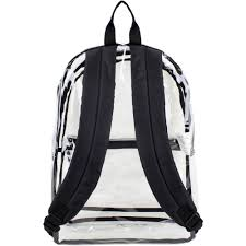 Ideas For Hanging Backpacks Eastsport Clear Backpack With Front Pocket And Adjustable Straps