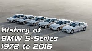 the history of bmw cars history of bmw 5 series from 1972 to 2016