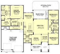 craftsman style house plan 3 beds 2 baths 2073 sq ft plan 430