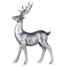 large standing silver stag ornament tutti decor ltd