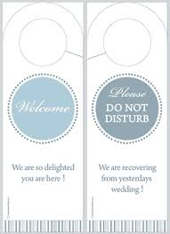 wedding door hanger template free diy wedding door hangers door hanger template