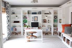 Ikea Book Shelves by Office Makeover Reveal Ikea Hack Built In Billy Bookcases