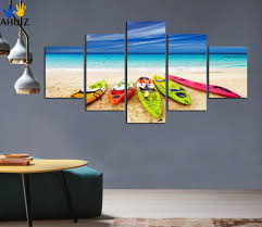 modern kitchen art paintings mediterranean style canvas painting sea yacht scenery picture