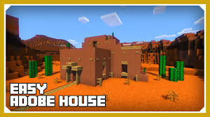 adobe houses minecraft how to build an adobe house tutorial easy survival