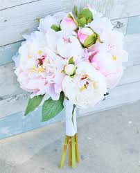 peonies bouquet touch roses peony silk wedding bouquet