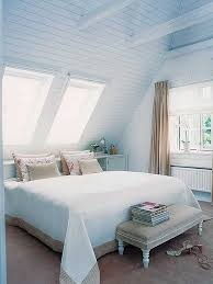 Sloped Ceiling Bedroom Decorating Ideas Interior Design Awesome Design Of Soft Blue Attic Bedroom