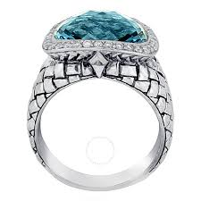 scott kay engagement rings scott kay sterling silver blue topaz diamond basketweave size 8