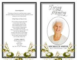 Funeral Programs Wording Funeral Program Template