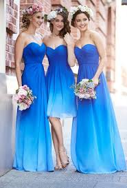 colored bridesmaid dresses gradient chiffon formal evening dresses prom gown
