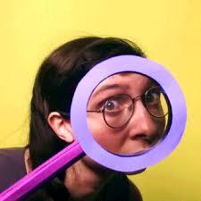 Magic Meme Gif - animation funny magic i see you weirdo magnifying glass pixilation