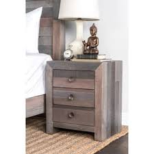 Natural Wood Nightstands Distressed Nightstands U0026 Bedside Tables Shop The Best Deals For
