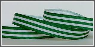 grosgrain ribbon by the yard 5 yards forest green stripes on white 3 8 grosgrain ribbon