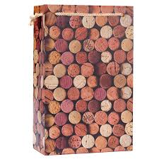 wine gift bag 2 bottle wine gift bag corks