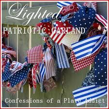 Outdoor Lighted Garland Confessions Of A Plate Addict Indoor Outdoor Lighted Patriotic