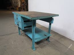 Kitchen Island Block Butcher Block Workbench Industrial Table Kitchen Island 48