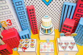 how to make birthday decoration at home vintage super hero party pop art inspired