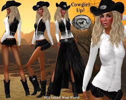 second life marketplace promo cowgirl up with boots and